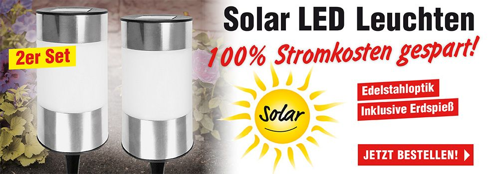 LED Solar Strahler 2er Set
