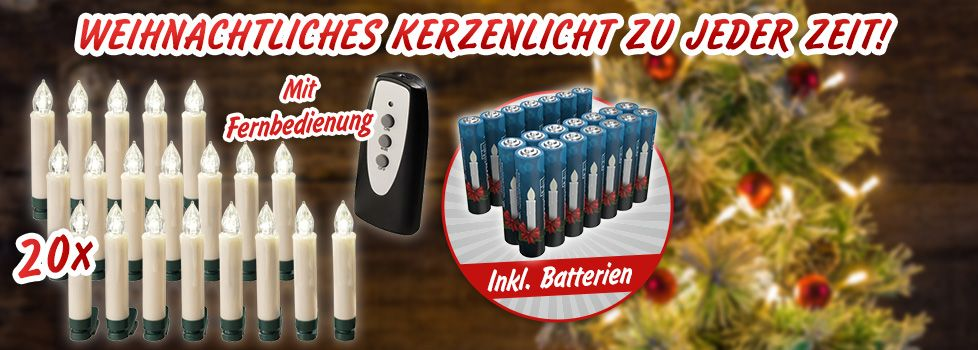 LED kabellose Christbaumkerzen