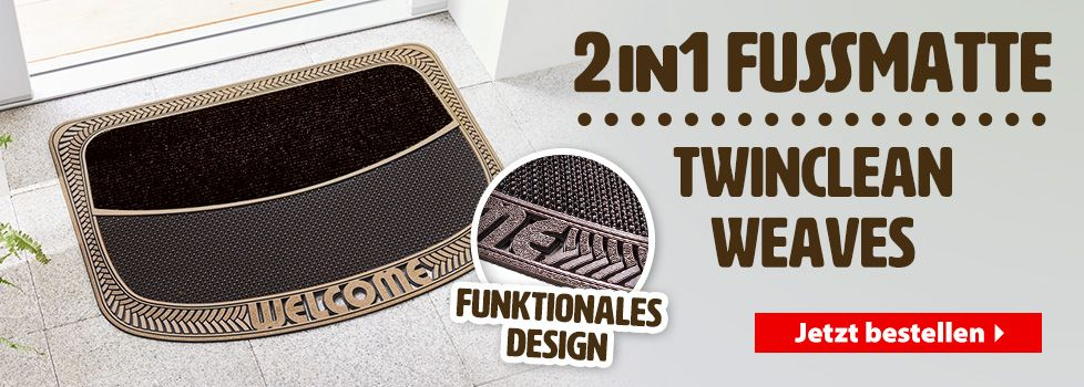 2 in 1 Fußmatten Twinclean Weaves
