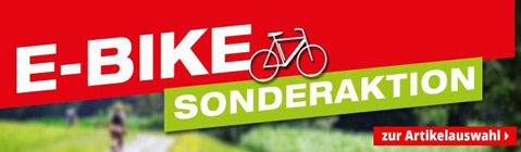 E-Bike Sonderaktion