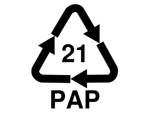 Recycling-Symbol 21 Pappe