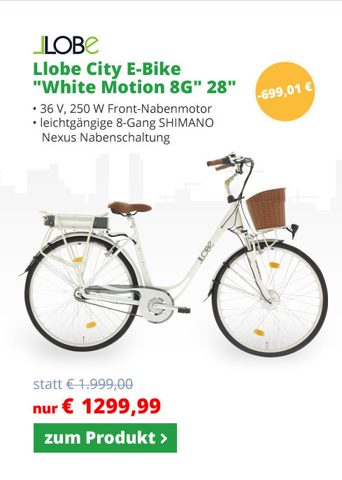 LLobe E-Bike City Bike White Motion