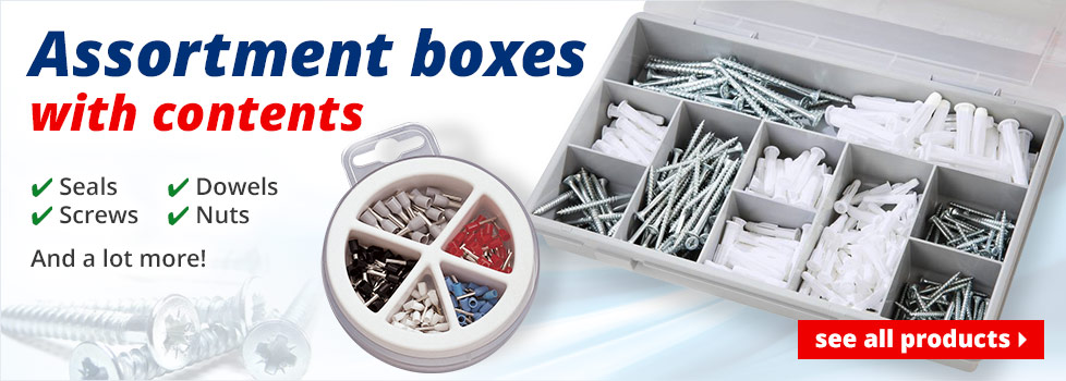 Assortment boxes with contents