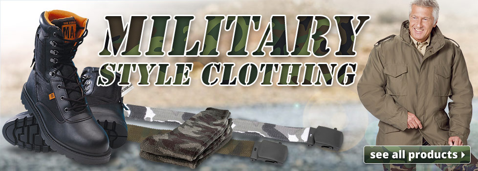 Army style clothing