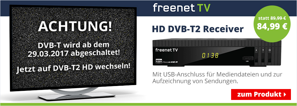 HD DVB-T2 Reiceiver