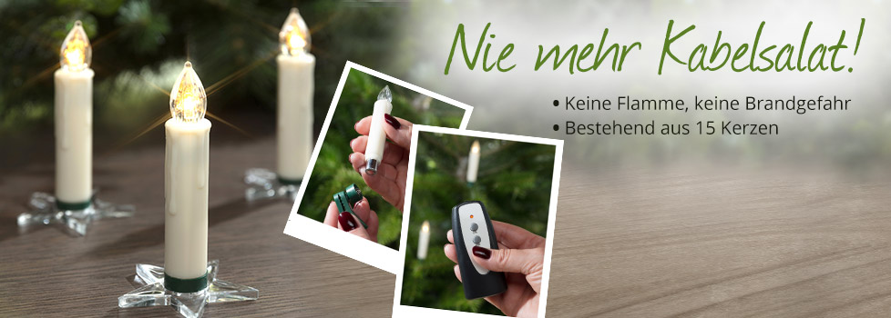 Kabellose LED Christbaum Kerzen