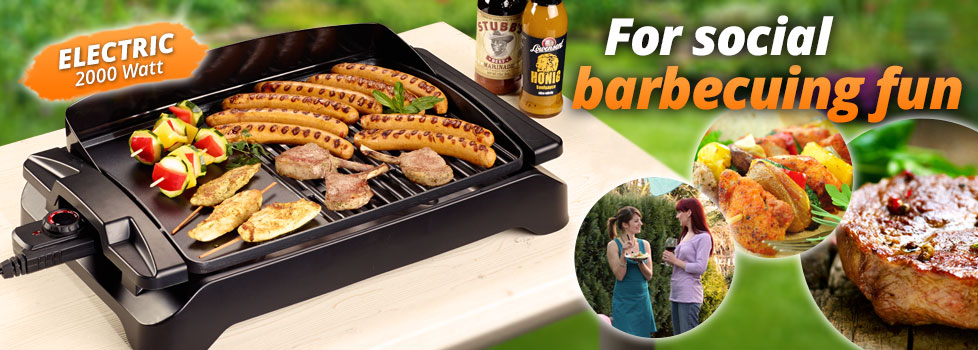 Table grill and barbecue