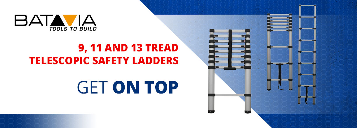 BATAVIA Aluminium Telescopic Safety Ladder